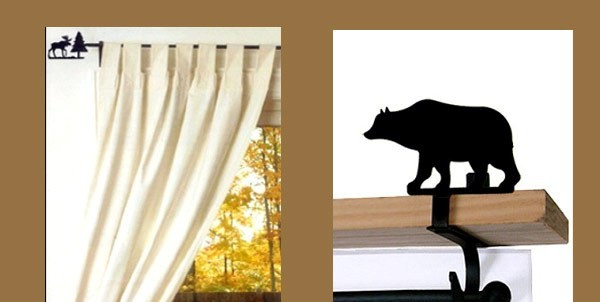 Lodge Style Curtain Rods