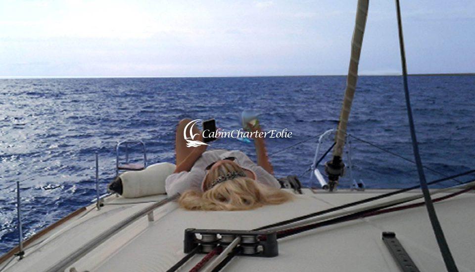 Vulcano - Catamarano - Luxory Holiday - Cabin Charter Eolie