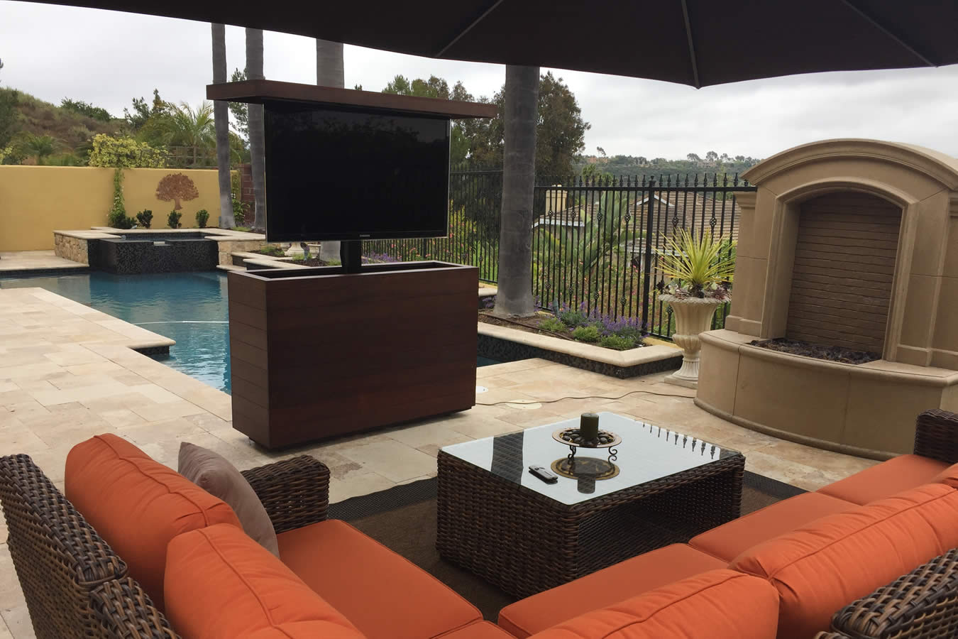 bare outdoor tv lift furniture with