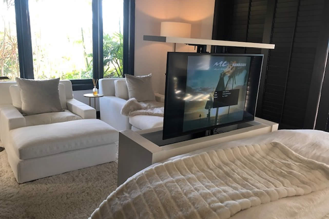 modern studio tv lift cabinet custom