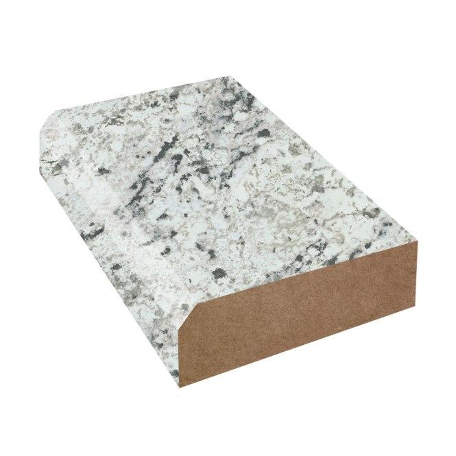 White Ice Granite Matte Bevel Edge