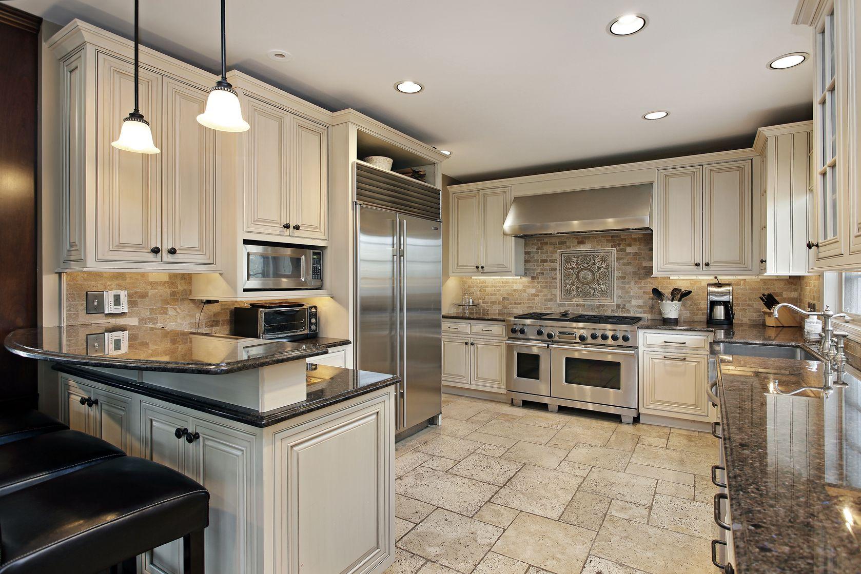 Kitchen Remodel Tile Floor Before Cabinets Amazing Bedroom