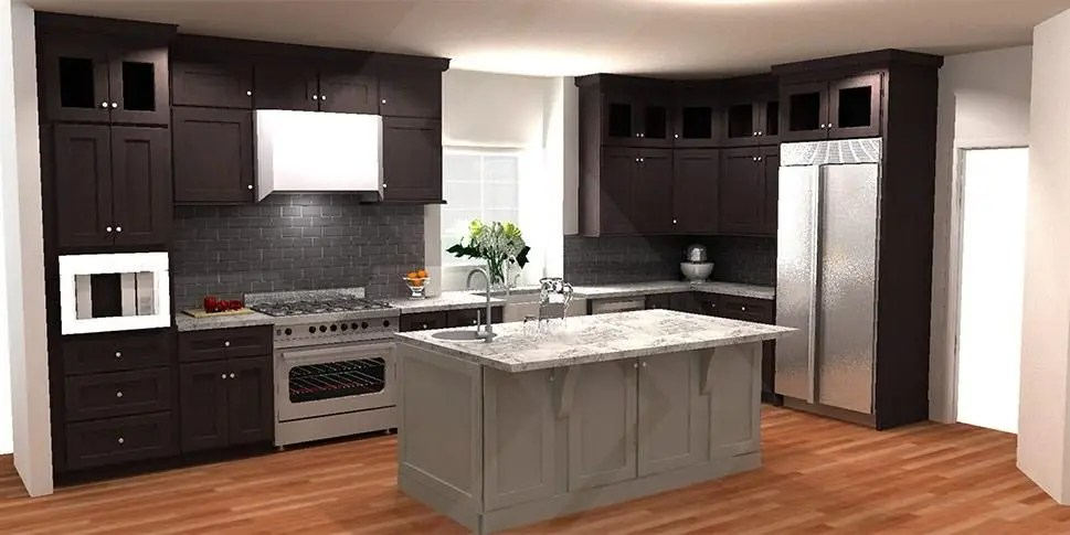 planning for a kitchen island