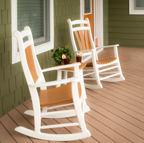 high tide amish outdoor rocking chair set of 2