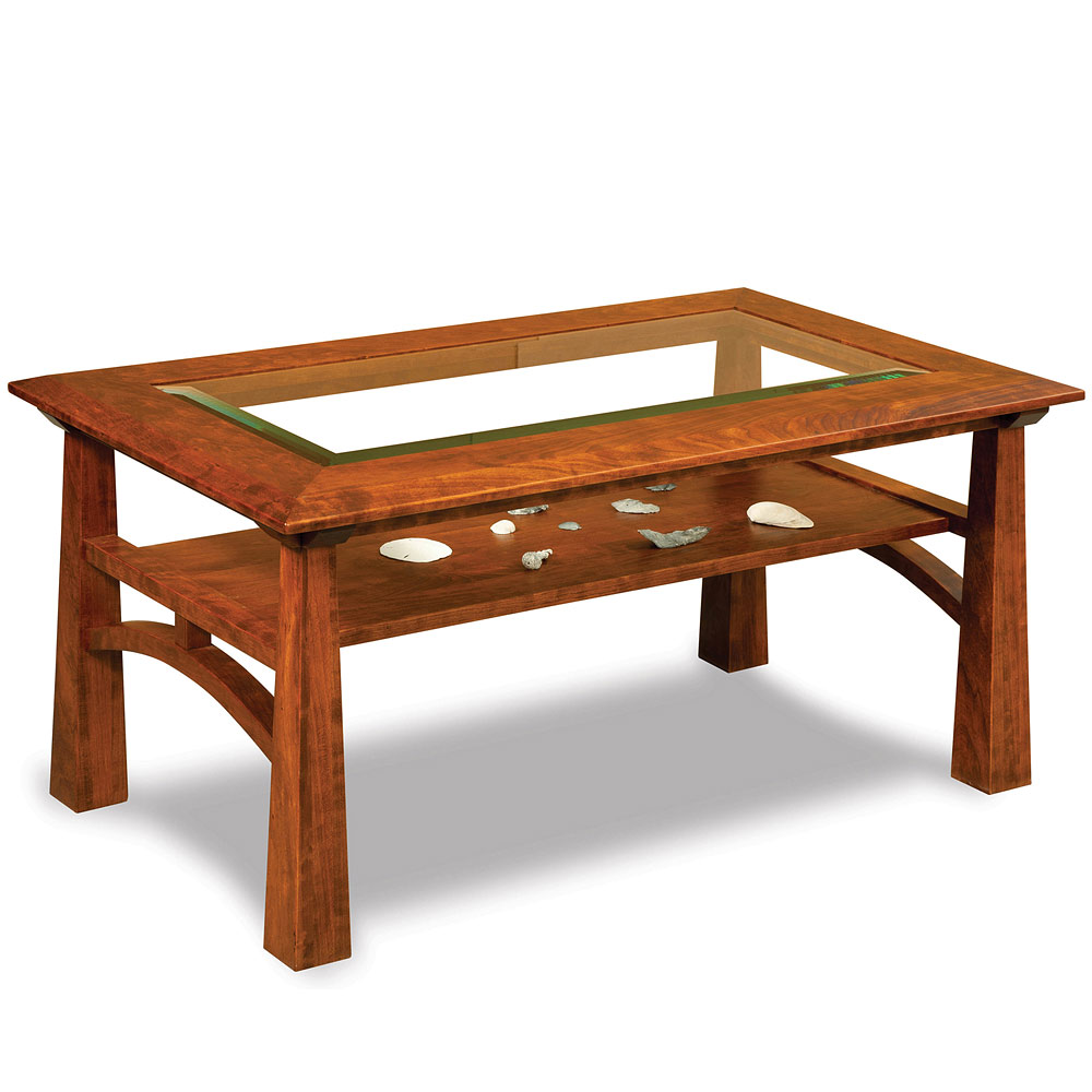 glass coffee table amish solid wood occasional table oak mission living room sets artesa