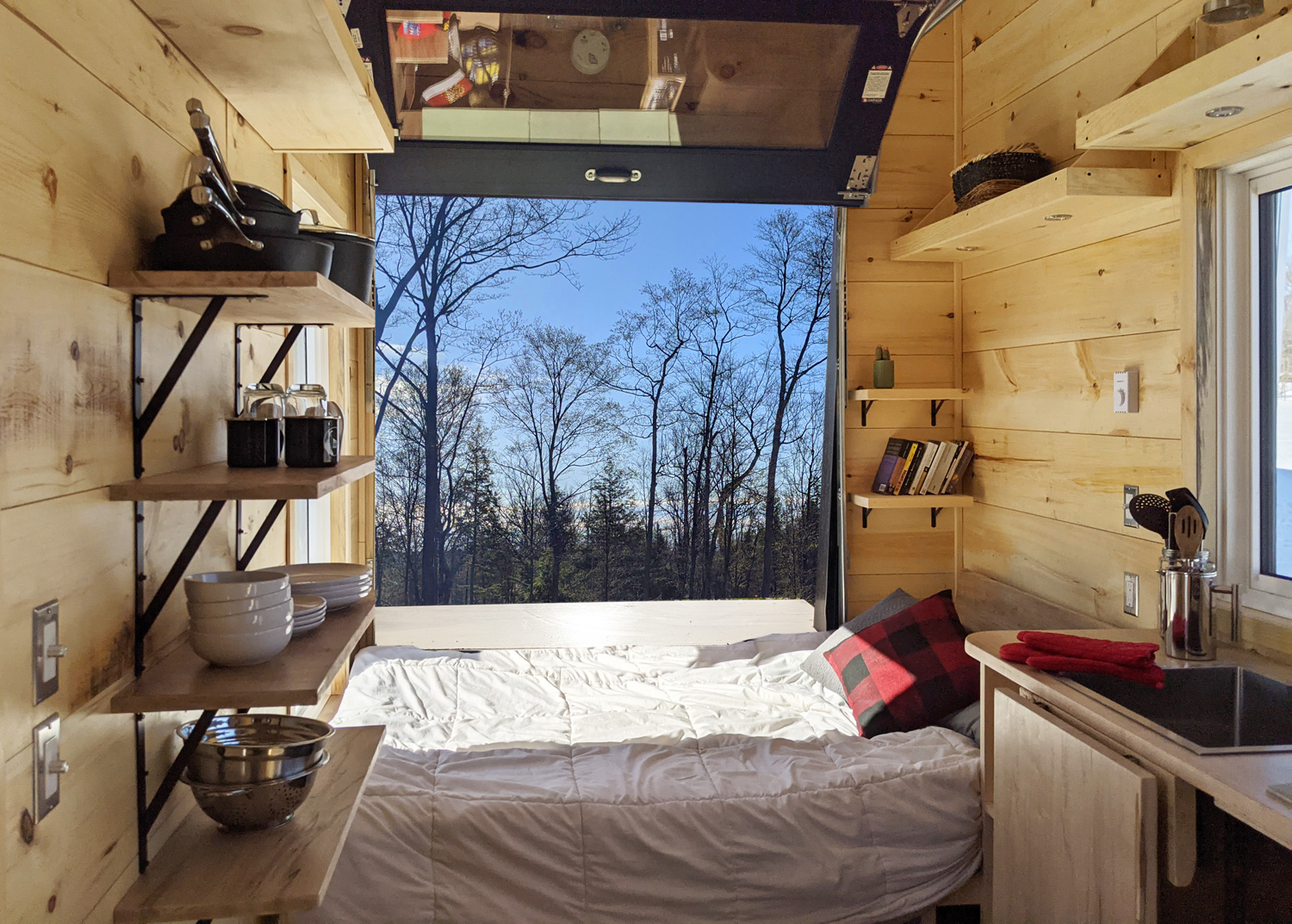 Starling Cabin View From Inside