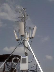 Quad P2P and P2MP Radio Base Site WISP installation