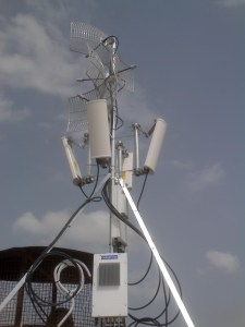 Quad P2P and P2MP Radio Base Site WISP installation
