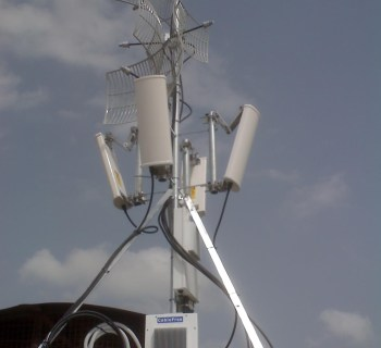 Quad P2P and P2MP Radio Base Site