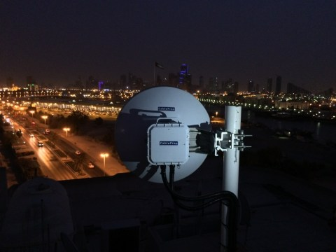 CableFree MMW Link in UAE - night