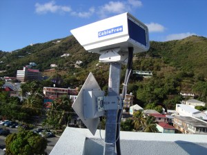 CableFree UNITY solution with FSO and Radio in the British Virgin Islands