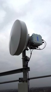 CableFree MMW link installed with 2+0 configuration