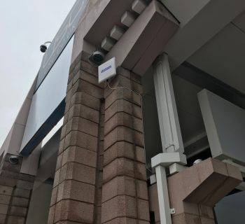 CableFree Amber Crystal Link installed by partner KMH for major UK Retail store