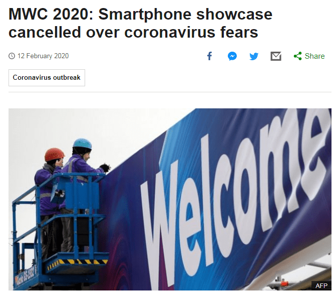 Mobile World Congress - MWC 2020 cancelled