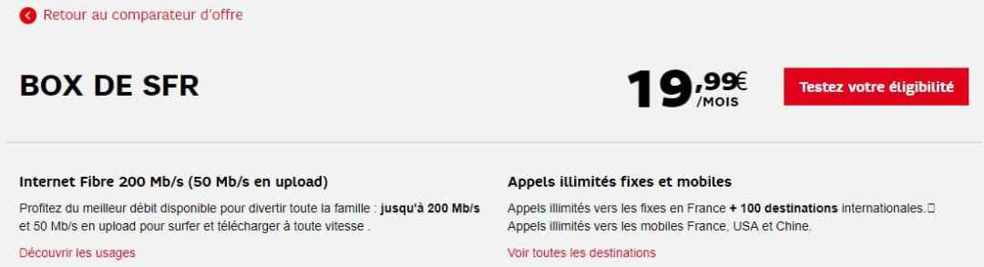 internet seul sans TV : offre Box de SFR