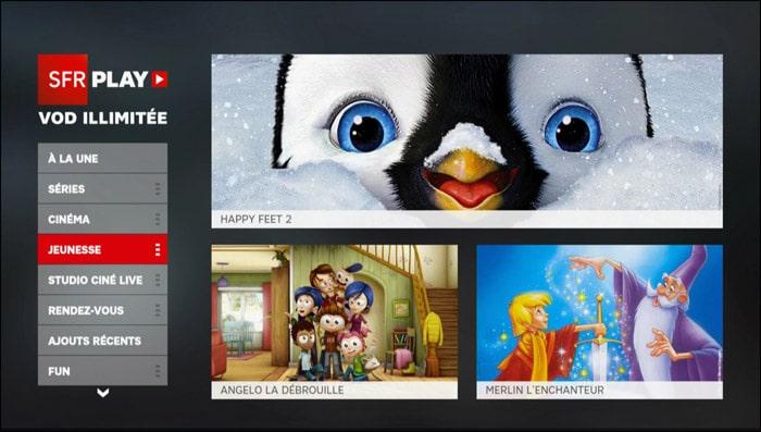 SFR Play VOD Illimité Altice Studio