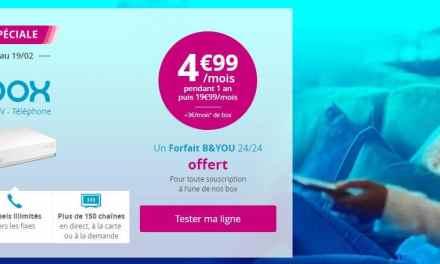 La Bbox à 4.99€/mois pendant 1 an avec un forfait mobile gratuit !