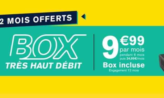Le Très Haut Débit de la Poste Mobile à 9.99€/mois avec 2 mois gratuits