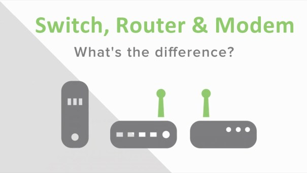 switch vs router vs modem