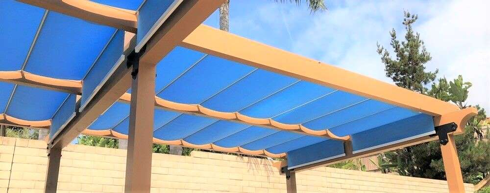 retractable sun shades on slide wire