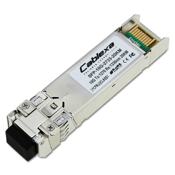 Cablexa SFP+, 10Gb/s, BiDi, 10GBase-BX, SMF, Tx1270nm/Rx1330nm