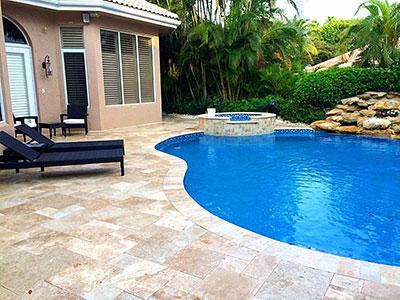 brick paver pool decks natural stone