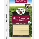 Dairy & Refrigerated-Organic Valley Mild Cheddar Cheese Slices, 8 ct