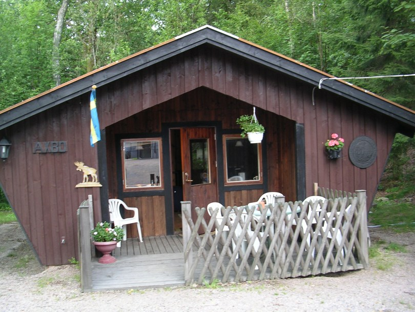 Cabaña onde nos aloxamos en Strömsnäsbruk (Suecia)