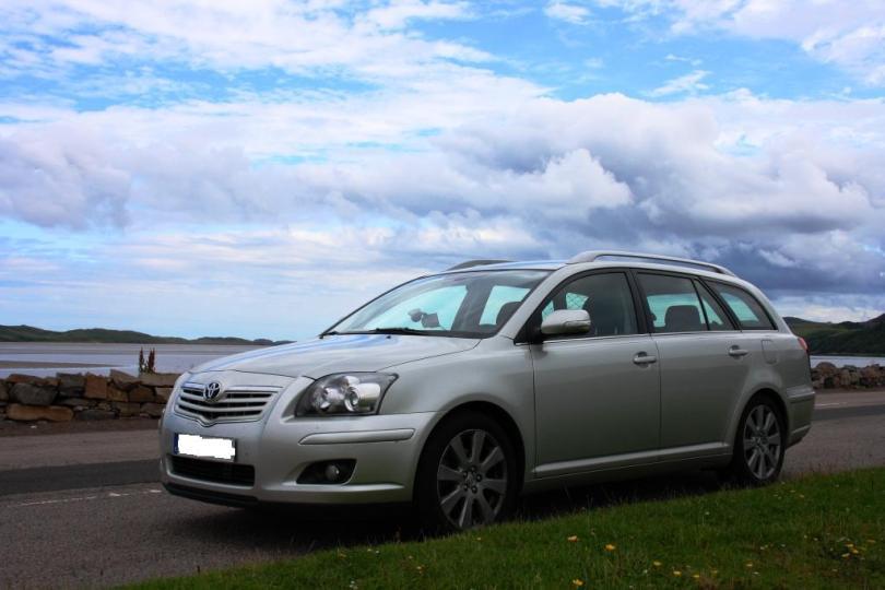 O meu coche, nalgún lugar do norte de Escocia