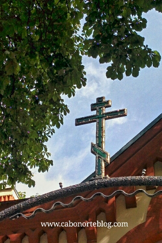 Cruz de una iglesia ortodoxa