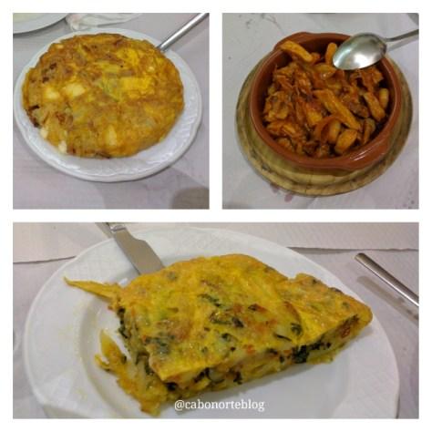 Tortillas e outras delicias do Mesón A Cunca