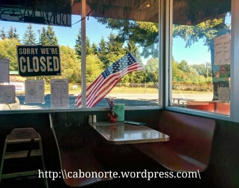 Típica hamburguesería americana en Forks