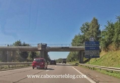 Autopista en el centro de Francia