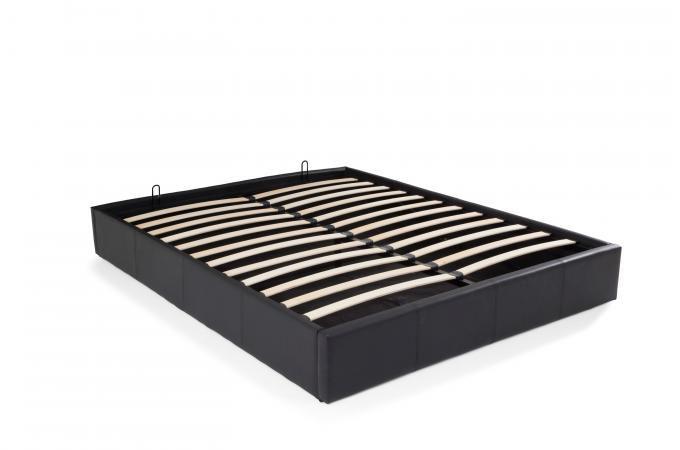 lit coffre sans tete de lit existe en plusieurs tailles de couchage 90 12 140x190cm 160 180x200cm en simili cuir pu