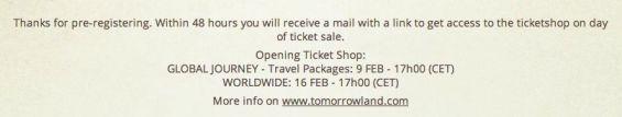 pre-registering pre-inregistrare Tomorrowland 2013 2
