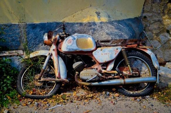 old abandoned bike in Corfu Greece-1