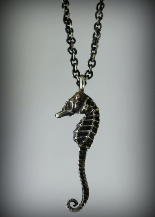 Itty Bitty Silver Seahorse Necklace