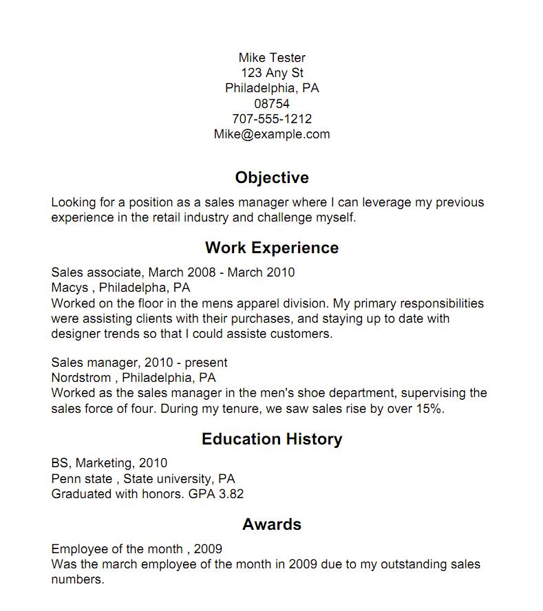 big resume sample