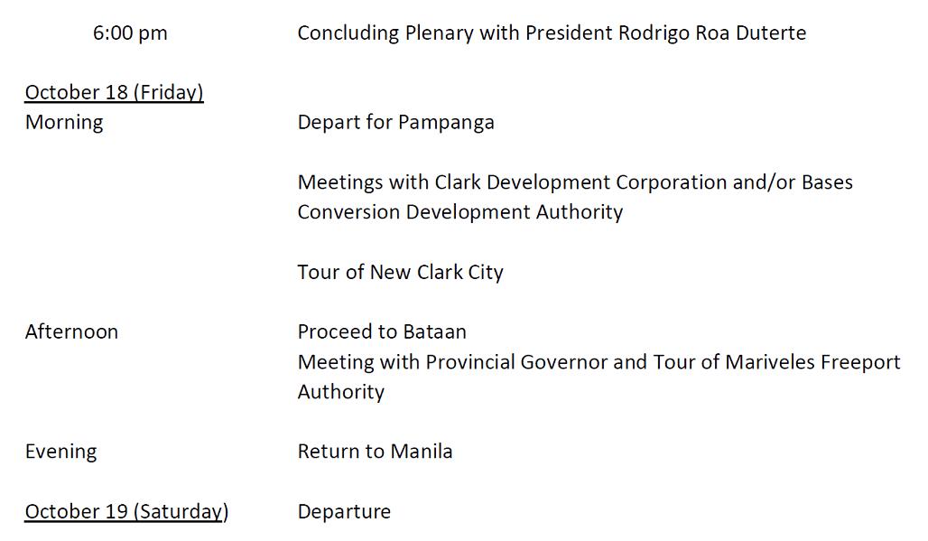 2019 0827 Philippines Itinerary 02