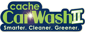 Cache Car Wash II Logo: Smarter. Cleaner. Greener.