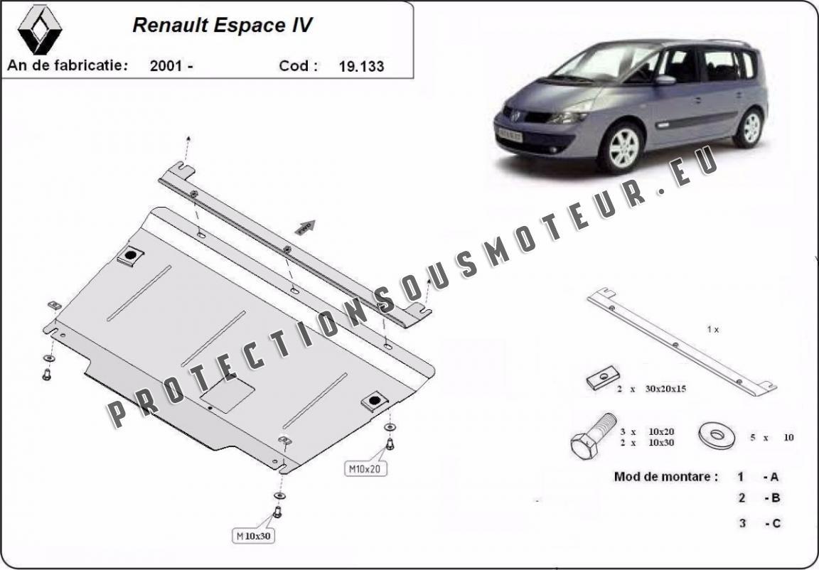 Cache Sous Moteur Et De La Boite De Vitesse Renault Espace 4