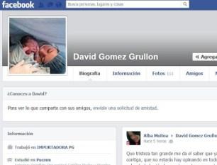 Empresario asesinado tenía como imagen en su perfil de Facebook a esposa e hijo recién nacido