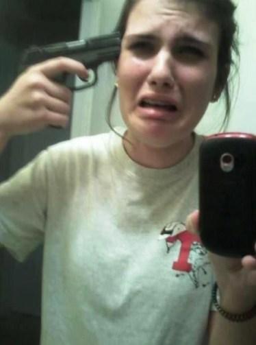 selfie' con una pistola