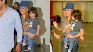 Shakira llegó a Brasil para presentarse en la clausura del Mundial Brasil 2014
