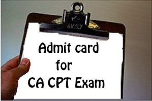 admit card for ca cpt