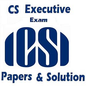 icsi executive exam paper solution