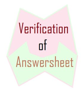 verification of answersheets