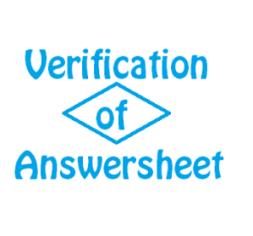 verification of cs answersheets