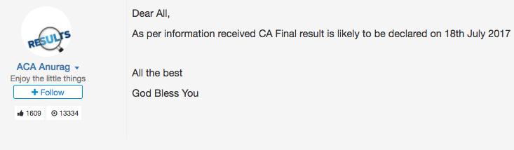 ca final result date