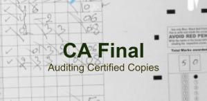 CA Final Auditing Certified Copies